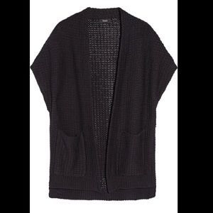 Theory Ibisco Fremont Cotton Cardigan Vest Size S